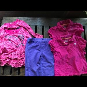 Twin girl outfits. Lot of 6 pieces.